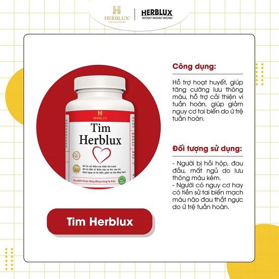 thực phẩm bảo vệ sức khỏe Tim Herblux