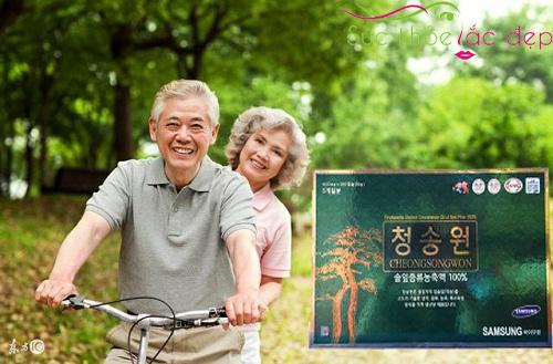 Tinh dầu thông đỏ hàn quốc Cheongsongwon có tốt không review của khách hàng
