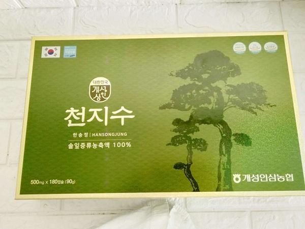 tinh dầu thông đỏ cheongsongwon hàn quốc 180 viên