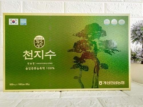 tinh dầu thông đỏ Cheongsongwon 180 viên hộp xanh