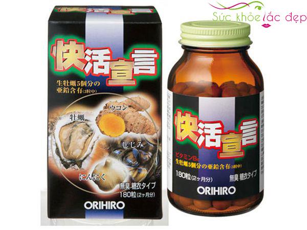 Liều lượng sử dụng tinh chất hàu tươi tỏi nghệ orihiro 180 viên Nhật Bản