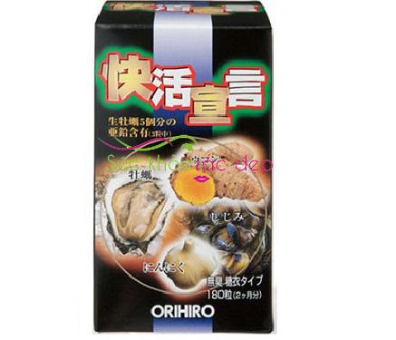 Cách sử dụng tinh chất hàu tươi tỏi nghệ orihiro 180 viên Nhật Bản có hiệu quả
