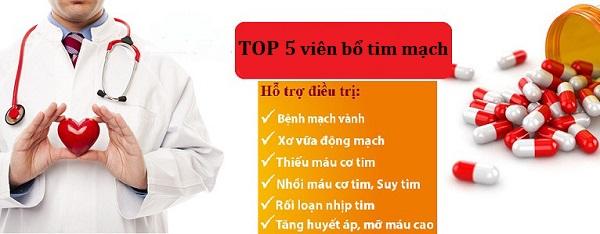 Top 5 thuốc bổ tim mạch tốt và hiệu quả nhất hiện nay