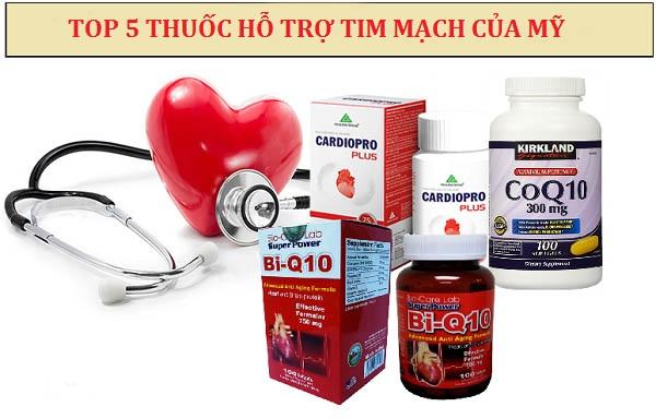 Top 5 thuốc hỗ trợ tim mạch của Mỹ an toàn hiệu quả nhất