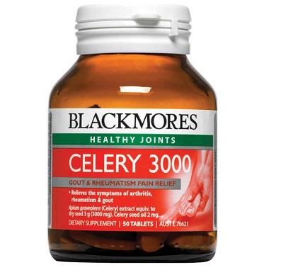 Viên uống hỗ trợ bệnh Gout Blackmores Celery 3000mg của Úc