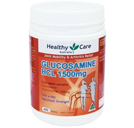 Viên uống Healthy Care Glucosamine HCL 1500mg 400 viên của Úc