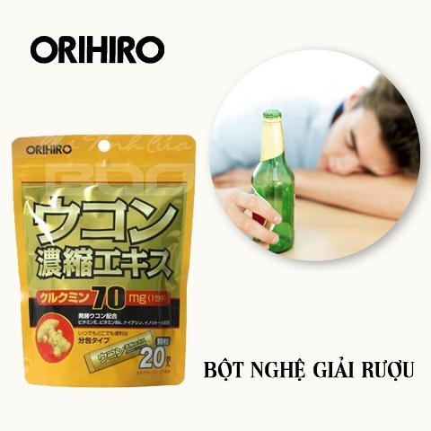 Bột nghệ giải rượu Orihiro xua tan mệt mỏi