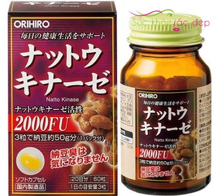 Giá viên uống nattokinase 2000fu orihiro Nhật Bản rẻ nhất.