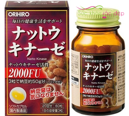 Liều lượng sử dụng viên orihiro nattokinase 2000fu Nhật Bản