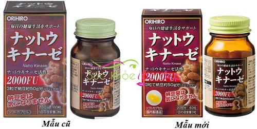 Giá viên uống nattokinase 2000fu orihiro Nhật Bản chính hãng