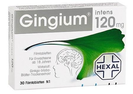 Viên Uống Tăng Tuần Hoàn Máu Não Gingium 120Mg Chính Hãng Đức