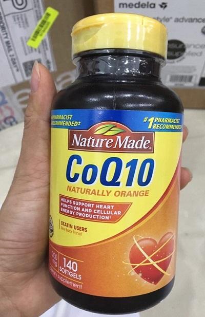 Viên uống bổ tim mạch Nature Made Coq10 200mg 140 viên của Mỹ