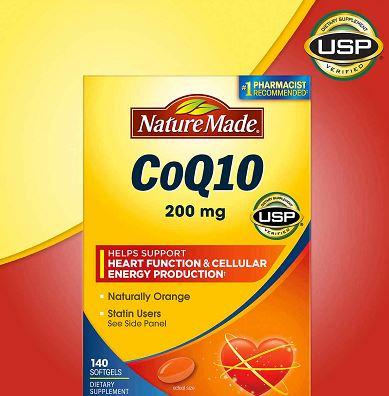 Viên bổ tim mạch Nature Made Coq10 200mg 140 viên của Mỹ