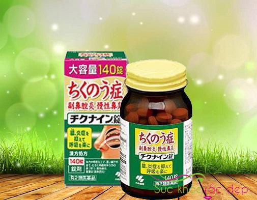 Giá viên uống trị viêm xoang chikunain Nhật bản tại suckhoesacdep.vn