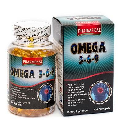 Viên uống bổ sung dầu cá Omega 3-6- 9 Pharmekal 100 viên