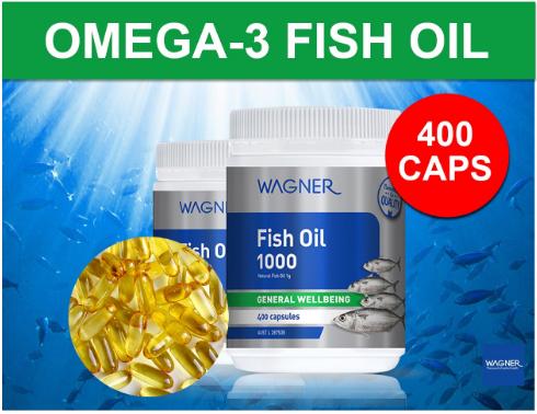 Viên uống dầu cá Wagner Fish Oil 1000 400 viên