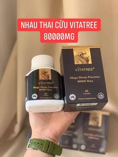 Viên uống nhau thai cừu Vitatree Mega Sheep Placenta 8000 Max