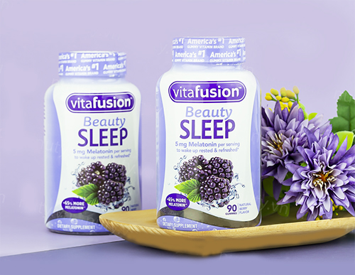 Vitafusion Beauty Sleep Gummies cải thiện tình trạng mất ngủ khó ngủ
