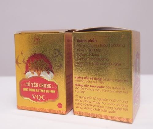yến chưng đông trùng hạ thảo saffron giúp bồi bổ nâng cao sức khỏe