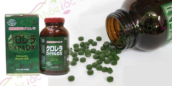 Thành phần dinh dưỡng trong tảo lục Chlorella Royan DX - chống lão hóa