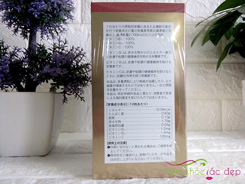 thông tin thành phần có trên hộp tảo nhật bản