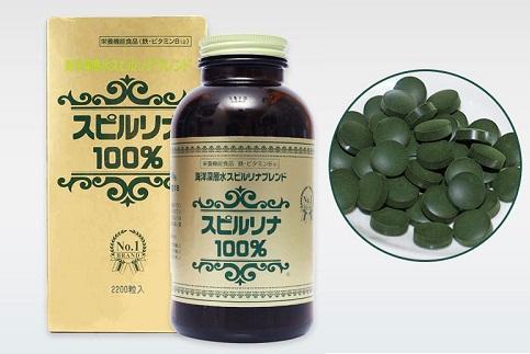 Tảo xoắn spirulina hộp 2200 viên hàng cao cấp Nhật Bản