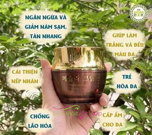 the nature book mesla cream giúp ngừa nám dưỡng trắng da