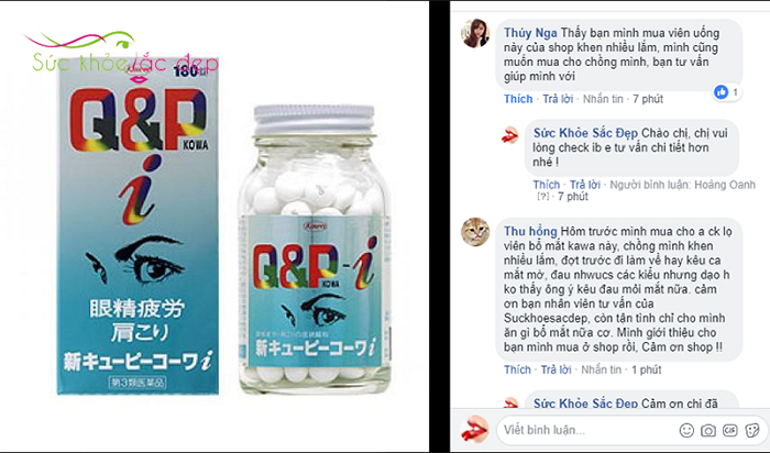 Q&P Kowa 180 viên review trên fanpage