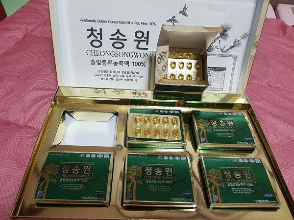 Công Dụng Của Tinh Dầu Thông Hàn Quốc Cheongsongwon 180 Viên Là Gì ?