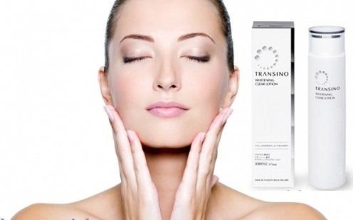 Transino Whitening Clear Lotion giúp da trắng mịn màng