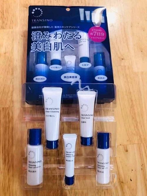 Set Transino mini trắng da trị nám 5 món 7 ngày  chính hãng Nhật Bản