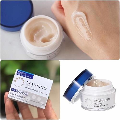 cách dùng transino whitening repair cream
