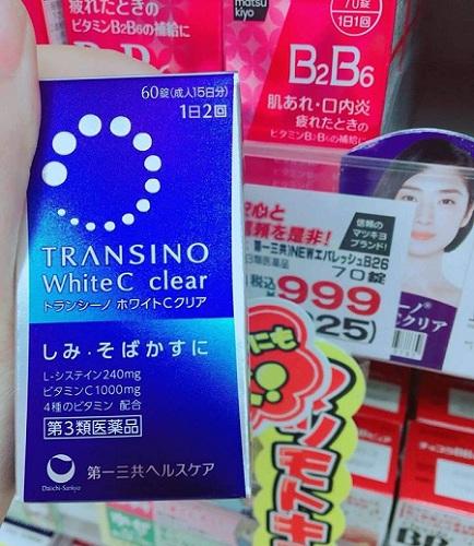 Viên uống Transino White C Nhật Bản