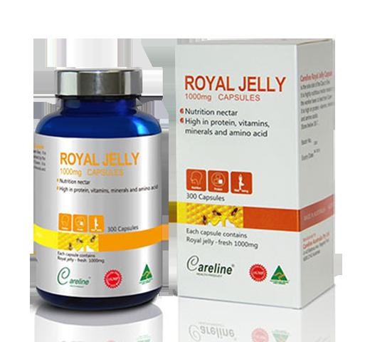 Viên Sữa ong chúa Royal Jelly 1000mg Careline hộp 300 viên