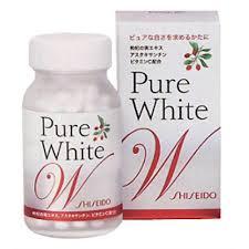 Pure White Shiseido - Viên uống trắng da, trị nám tàng nhang tốt nhất Nhật Bản