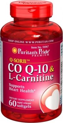 Viên uống hỗ trợ tim mạch hiệu quả coq10 & l-carnitine của Puritan's Pride