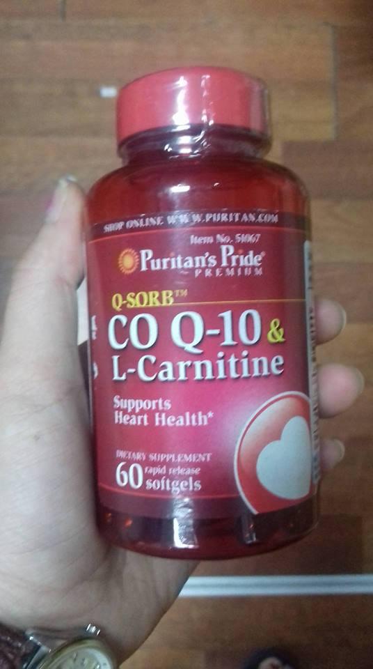 Hình ảnh thật của viên nang CoQ10 L-Carnitine Puritan tại suckhoesacdep.vn