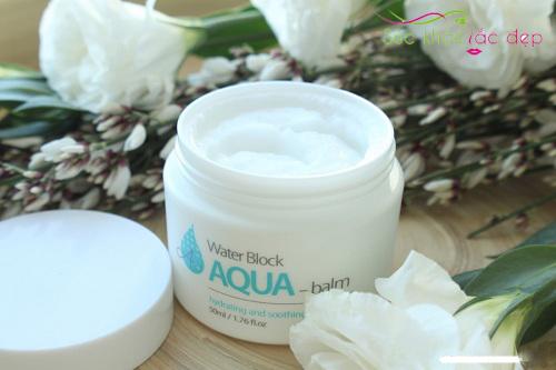 kem dưỡng the skin house water block aqua balm review