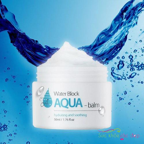 công dụng của kem dưỡng the skin house water block aqua balm