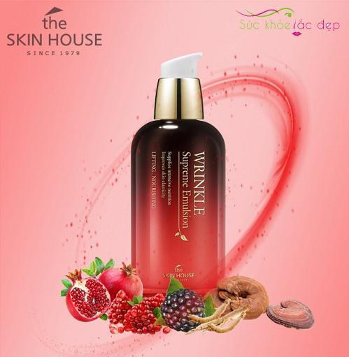 sữa dưỡng the skin house wrinkle supreme emulsion